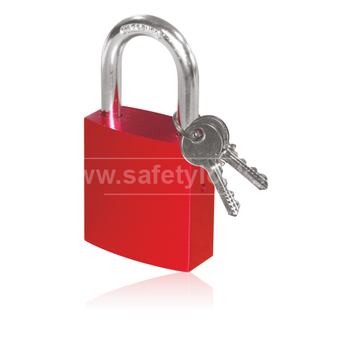 Aluminium Lockout Padlock with Standard Steel Shackle