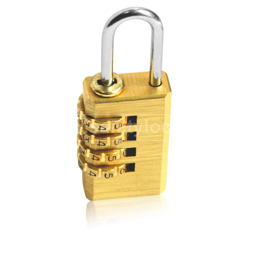 Lockout Tagout - Brass Combination Lockout Padlock - 4 Wheels
