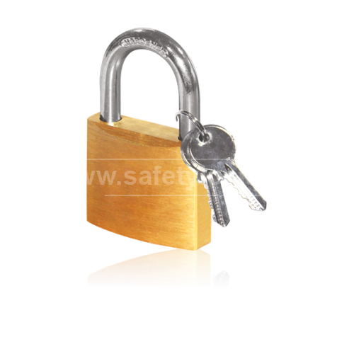 Brass Lockout Padlock with Steel Shackle