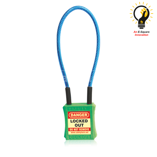 Cable Lockout Safety Padlock - Lockout Tagout