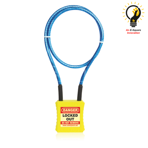 Lockout Tagout - Cable Lockout Safety Padlock with 2 feet cable