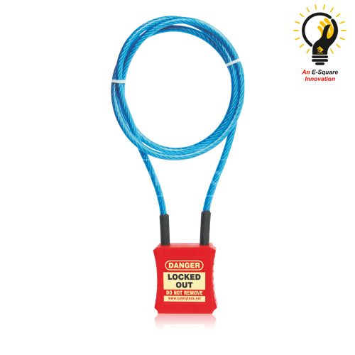 Cable Lockout Safety Padlock with 3 feet cable