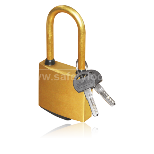Complete Brass Lockout Padlock for Safety