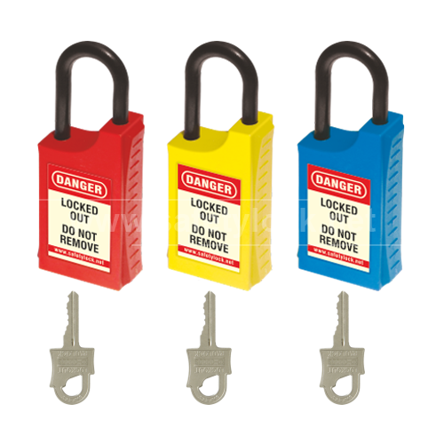HLSP De Electric Padlock with Nylon Shackle - Key Different - Set of 3