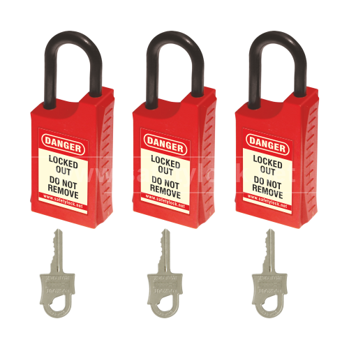 Lockout Tagout - HLSP De ELECTRIC Padlock - Key Different