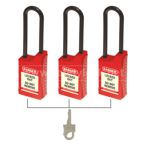 HLSP De - ELECTRIC Padlock with 85 mm Nylon Shackle - Key Alike