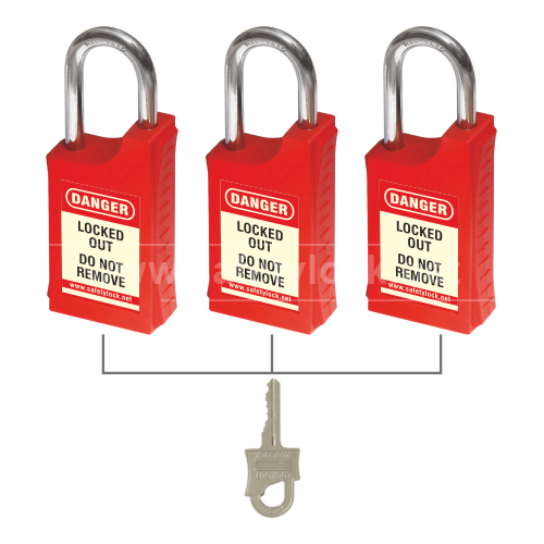 HLSP Padlock with 46 mm Steel Shackle - Key Alike