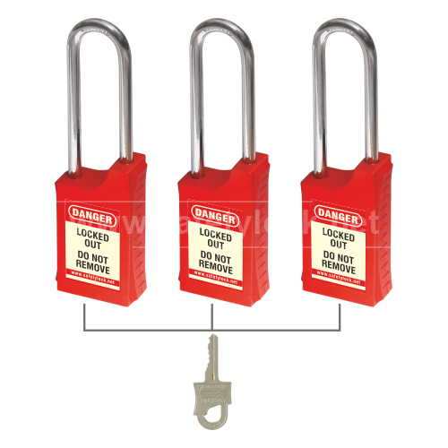 Lockout Tagout - HLSP Padlock - Key Alike