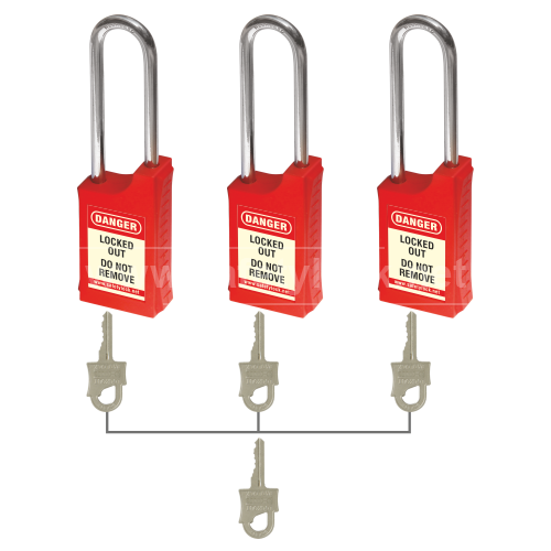 HLSP Lockout Padlock - Key Different + Master Key
