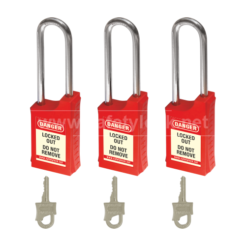 HLSP Padlock with 85 mm Steel Shackle - Key Different