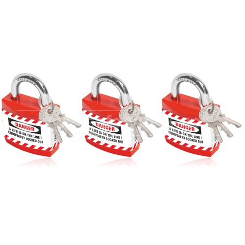 Lockout Tagout - Jacket Padlock with REGULAR Shackle - Key Different