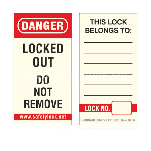 Lockout Tagout - Label for ES - PLSP Long Body