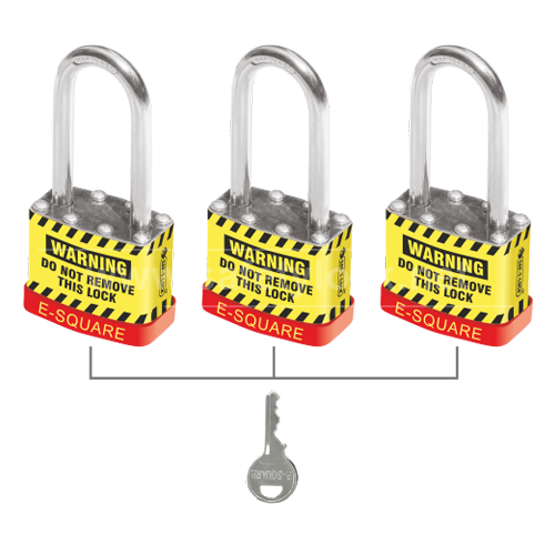 Lockout Tagout - Safety Padlock with Long Shackle Key Alike