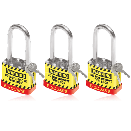 Safety Lockout Padlock with Long Shackle Key Different