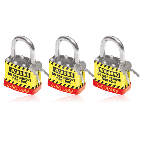 Lockout Padlock with REGULAR Shackle with Key Different