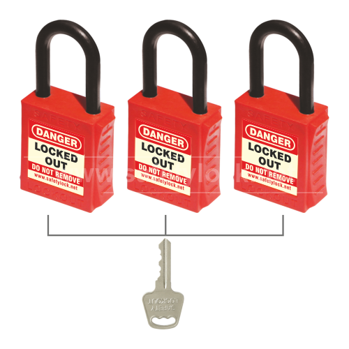 LOTO - PLSP De ELECTRIC Padlock with Nylon Shackle - Key Alike