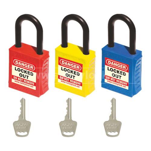 PLSP De ELECTRIC Padlock with Nylon Shackle - Key Different