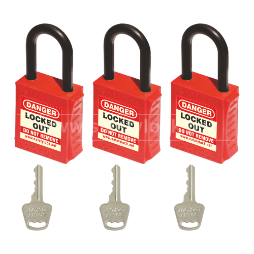 Lockout Tagout - PLSP De ELECTRIC Padlock with Nylon Shackle - Key Different