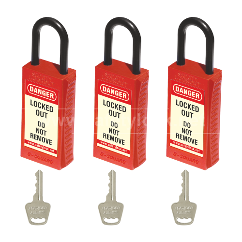 PLSP De - ELECTRIC Padlock with Long Body - Key Different