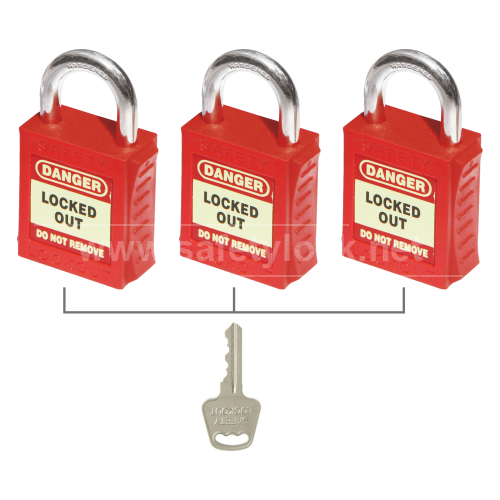 PLSP Padlock with Steel Shackle Key Alike