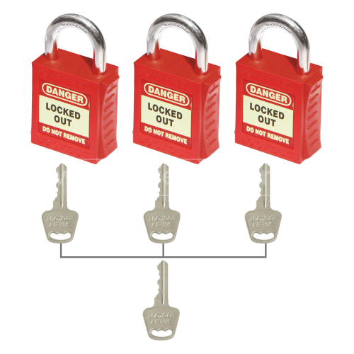 PLSP Padlock with Steel Shackle - Key Different - Master Key