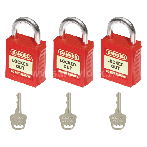 Lockout Tagout - PLSP Padlock with Steel Shackle