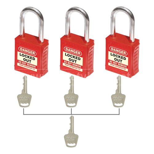 PLSP Padlock with 46 mm Steel Shackle - Key Different + Master Key