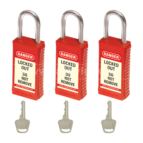 PLSP Padlock with Long Body - 46 mm Steel Shackle - Key Different