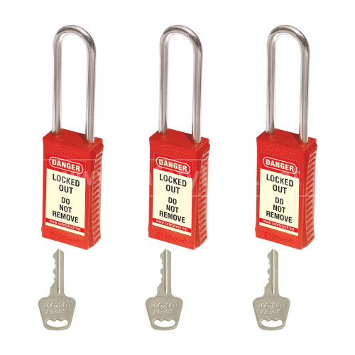 Lockout Tagout - PLSP Padlock with Long Body - Key Different