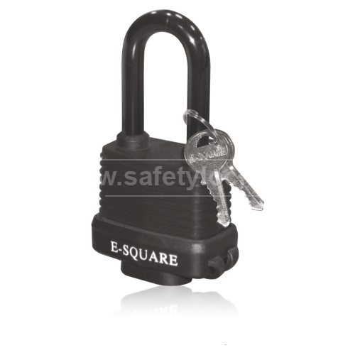 Lockout Tagout - Encased Laminated Steel Body Lockout Padlock - Black